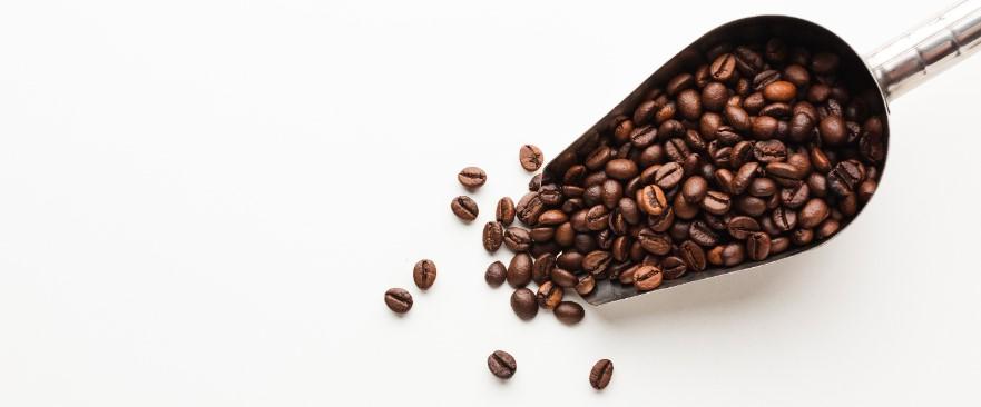 koffiebonen schep